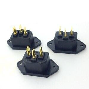 Image 3 - 3 pçs furutech FI 06 (g) tomada de entrada iec 3 pinos edição soldada cobre banhado a ouro de alta fidelidade power matihur ac caixa de embalagem original