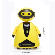 2021 New Inductive Electric Robot with LED Light Auto-Induction Car Follow Black Line Toy