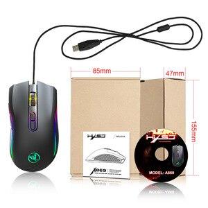 Image 5 - Souris de jeu filaire 7200DPI programme macro définition souris de joueur de qualité professionnelle souris filaire rvb optique pour ordinateur portable