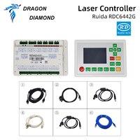CO2 lazer makinesi Ruida RDC 6442G DSP denetleyici + 24V 5A 120W anahtarlama güç kaynağı Co2 lazer oyma kesme makinesi