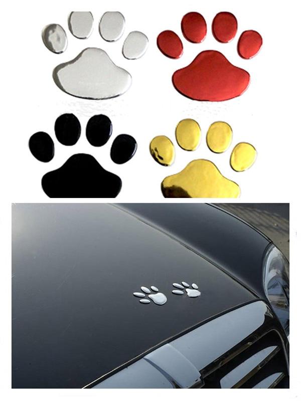 Car Sticker Animal Foot Prints 3D Cool Design Paw Dog Cat Bear Footprint Decal