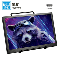 10.6 inch 1366*768 mini portable monitor HDMI for travel movie Raspberry Ps4 Xbox PC gamer laptop IPS gaming monitor LCD screen недорого
