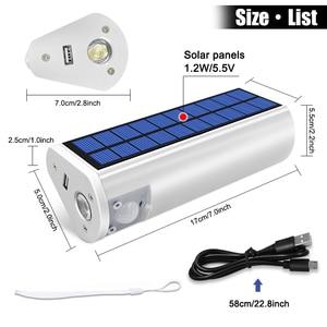 Image 2 - Linterna Solar portátil multifuncional, 650lm, cargador de teléfono, lámpara impermeable para exterior e interior, para Camping