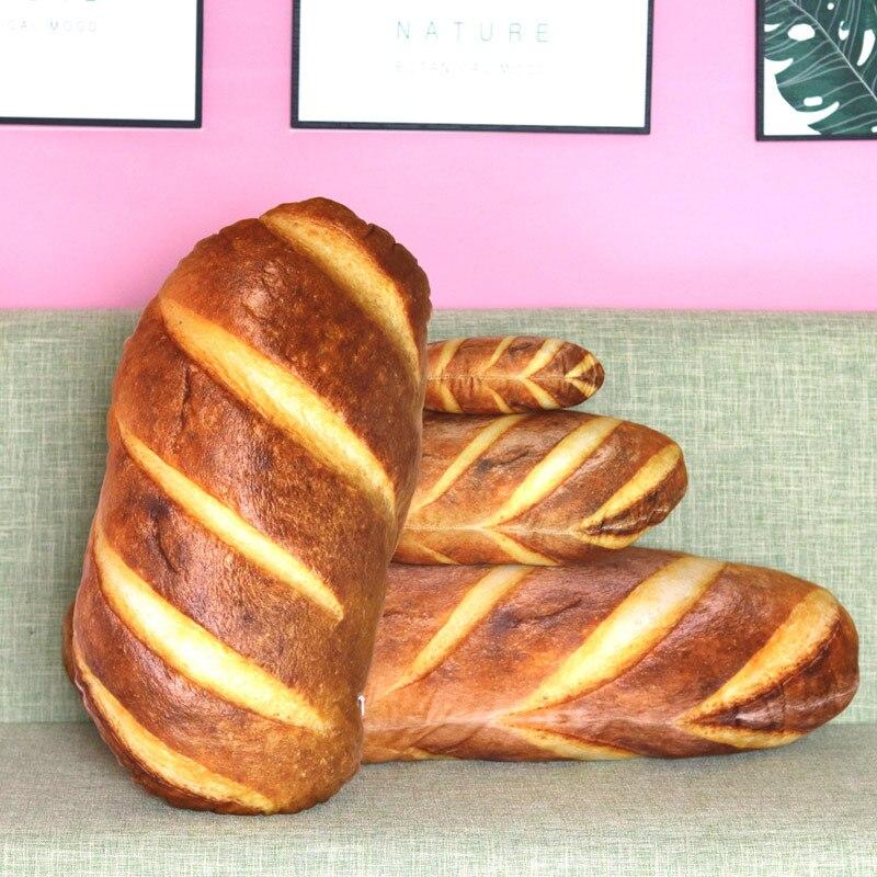 3D имитационный Хлеб Форма Подушка Мягкая поясничная задняя плюшевая игрушка закуски домашний декор MF999