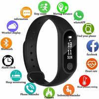 M2 Reloj inteligente paso deportivo presión arterial podómetro pulsera inteligente hombres mujeres Reloj multifunción Reloj inteligente