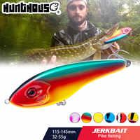 Hunthouse Jerkbait Muschiato Buster Pike Fishing Lure Jerk VIB Esche Ganci di Slow Sinking Big Bass Pesca Leurre jerkbaits