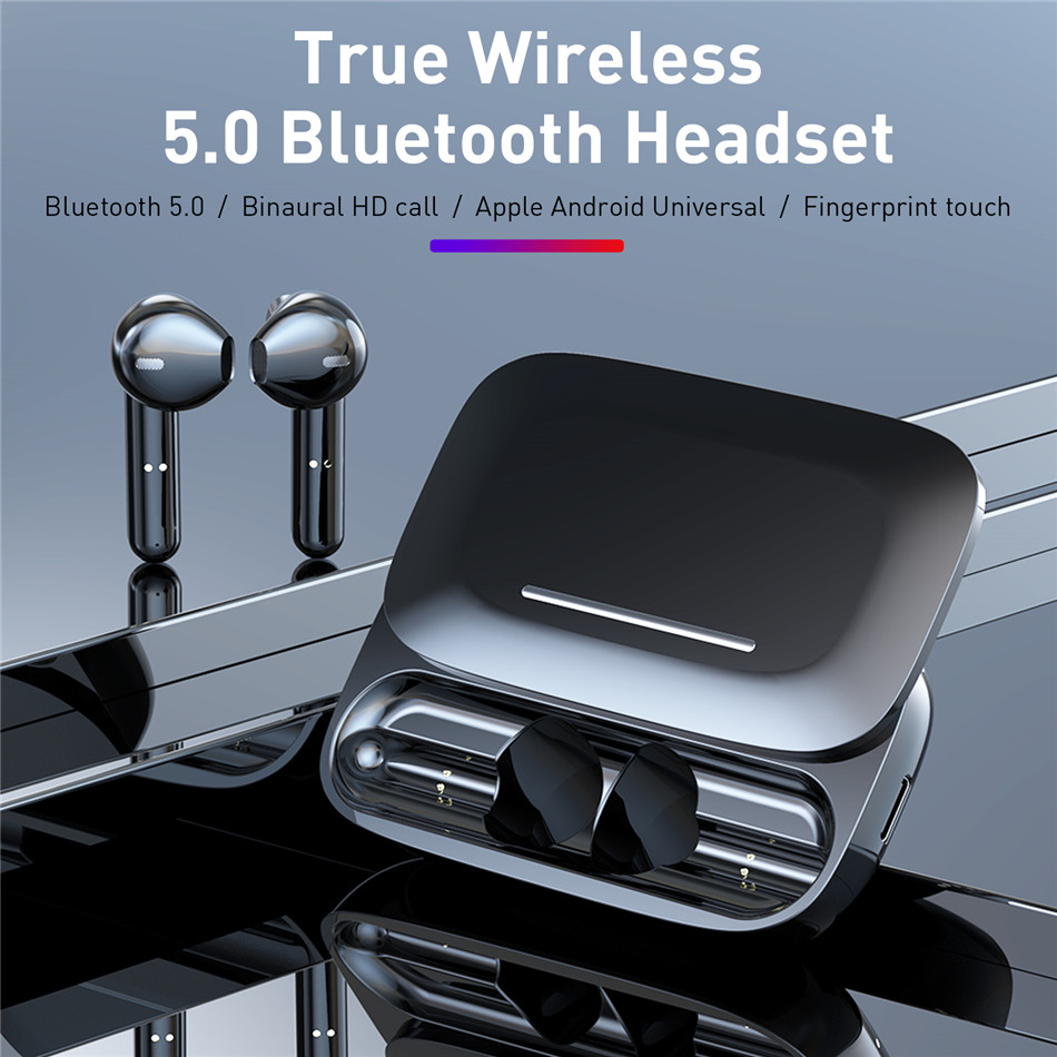 <font><b>TWS</b></font> BE36 Stereo Bluetooth Headphone Auto Pairing Waterproof IPX5 Wireless Earbuds Earphone Slide Charging Box for iphone Android image