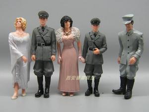 1:18 хорошее качество ПВХ фигурка машины decration Солдат Второй мировой войны песочница сцена Моделирование куклы украшения 5 шт./компл.