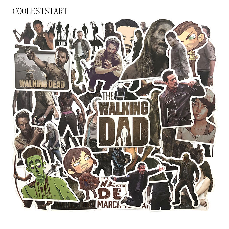 50Pcs/Set The Walking Dead Stickers Graffiti Stickers Series For DIY Luggage Suitcase Laptop Motorcyle Car Pegatinas