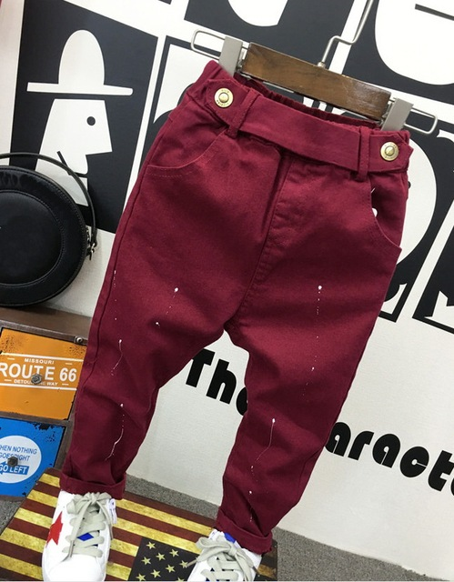 fashion baby clothing 2-7years baby boys soft jeans trousers Kids jeans blue casual pants spring autumn trousers denim 5