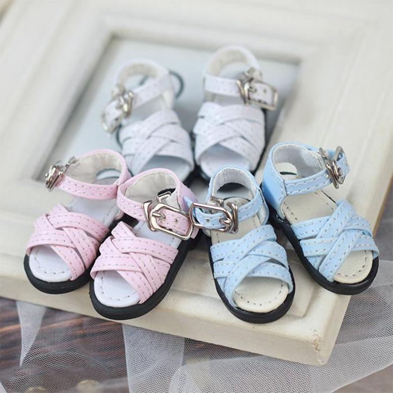 BJD Shoes Leather Shoes Sandals For 1/4 1/6 BJD Doll Shoes Doll Accessories Cross Line Style Bjd Shoes