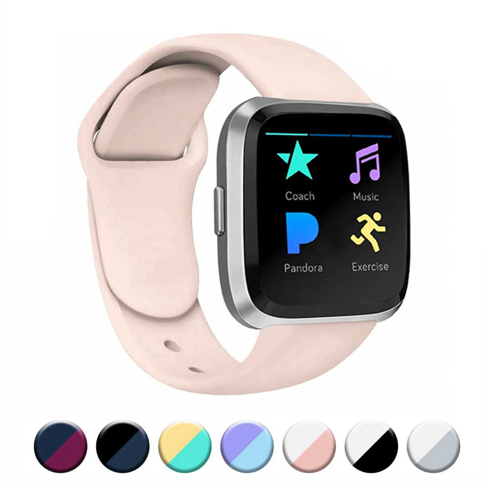 Accessoires Band Voor Fitbit Versa 2 Band Soft Silicone Wrist Waterdicht Vervanging Band Voor Fitbit Versa Horloge Band Armband