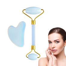 Jade Roller Gua Sha Set 100% Natural Opalite Facial Jade Rol