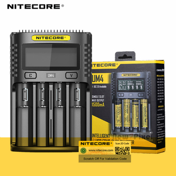 NITECORE UMS4 UM4 UMS2 UM2 SC4 Intelligent QC Charger For 18650 16340 21700 20700 22650 26500 18350 aa aaa Battery Charger