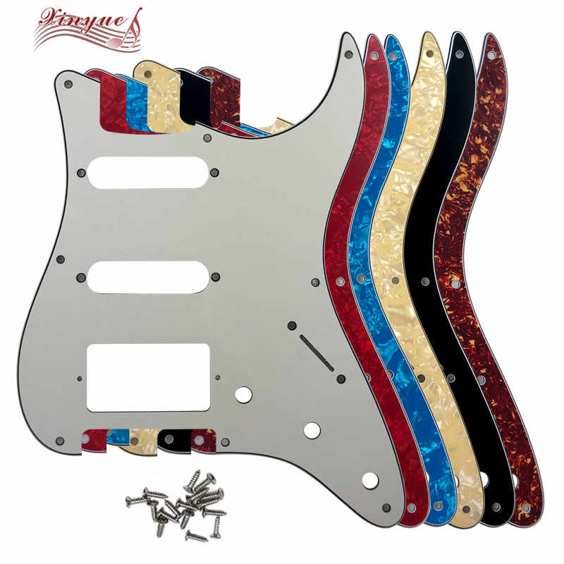 Pleroo Guitar Parts - For US 57' 8 mounting Screw Hole Standard St Hss strat Guitar pickguard multiple colour