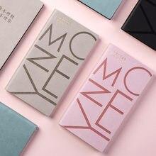 Mémos quotidiens 2021 nouveau Faux cuir Portable livre poche mignon 48K Mini paresseux gestion financière livre bureau rose bleu