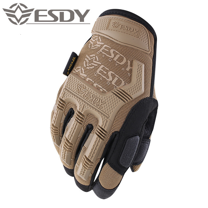 ESDY Outdoor Motorcycling Gloves Tactical Military Gloves Men Nyulon Shooting Airsoft Combat Anti-Skid Full Finger Gloves 2019