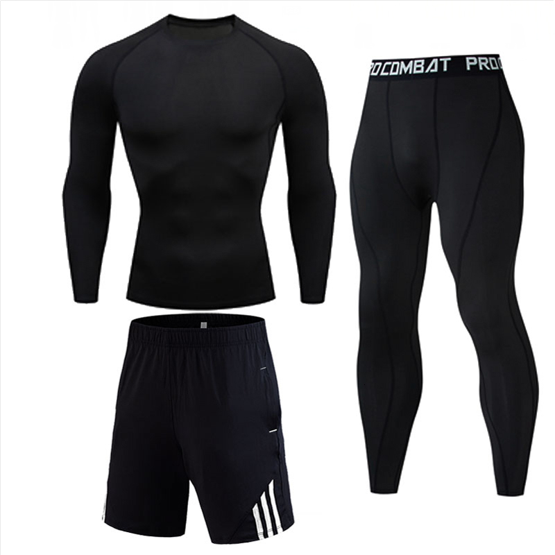 Mens MMA Warrior Fitness Solid Color T Shirts Fashion Teen Long Sleeve Palace Compression Shirt Bodybuilding Crossfit Clothing