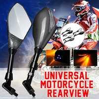 Pair Universal Motorcycle LED Turn Signal Light Rearview Side Mirrors For Honda/Suzuki/Kawasaki/Ducati/Yamaha|Side Mirrors & Accessories|Automobiles & Motorcycles -