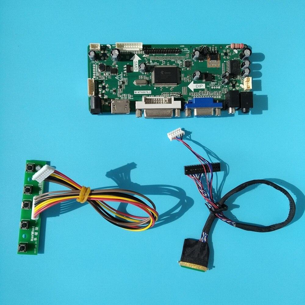 HDMI+DVI+VGA LCD Controller Board Kit for BT156GW01 N156BGE-L21 LTN156AT17