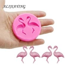 Chocolate Molds Clay Flamingo Cake-Decoration-Tools Baking Fondant-Sugarcraft Safe-Resin