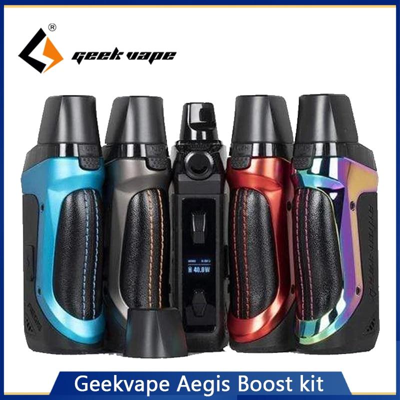 Geekvape Aegis Boost Starter Kit Pod Vape Pen 1500mAh Battery Rebuildable Pod System 2ml/3.7ml Atomizer MTL DTL Vape Kit