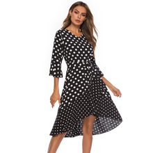 Sexy Women Dress Summer V-neck Dresses Dot Print Ruffled Mini Party Dress Plus Size plus crisscross v back glitter dot dress