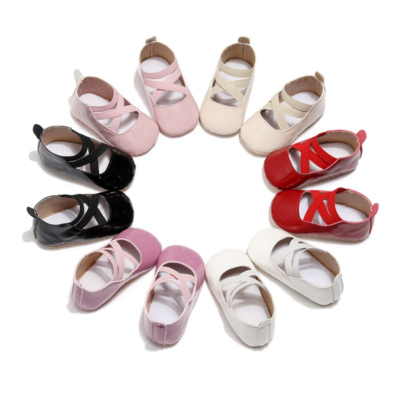 Baby Moccasins Baby Girl Child Shoes PU Leather Princess Crib Shoes Newborn Girl Shoes First Walker 0-24 Month1