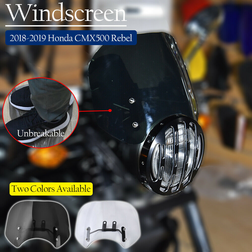 For Honda Rebel 300 500 CMX300 CMX500 2018 2019 2020 Windshield Windscreen Fly Screen Deflector CMX 300 500 Motor Accessories