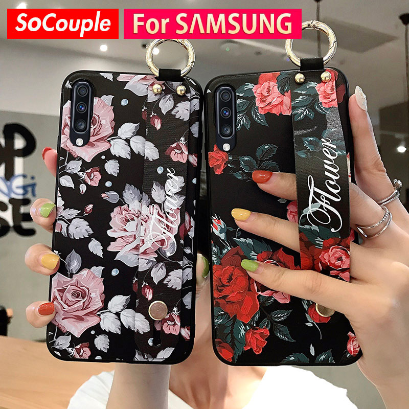 Wrist Band Case For Samsung Galaxy S9 S8 S10 S20 Plus A10 A20 A30 A50 S A70 A51 71 Note 8 9 10Plus Phone Holder Case