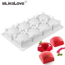 SILIKOLOVE – moule à gâteau en Silicone, 8 cavités, Rectangle, Cube, Mousse, 3D, DIY, pâtisserie, Muffin, Pudding