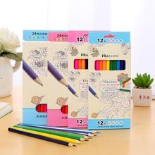 36/24/12 Color Cartoon Children Color Pencil Student Hand Drawing Coloring Pen School Supplies Drawing Pencil Art Supplies