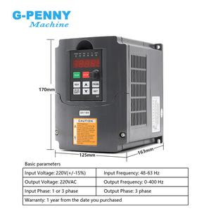 Image 3 - 220V 800W ER11 water cooled spindle motor water cooling & 1.5kw VFD inverter Variable Frequency Drive CNC Spindle speed control