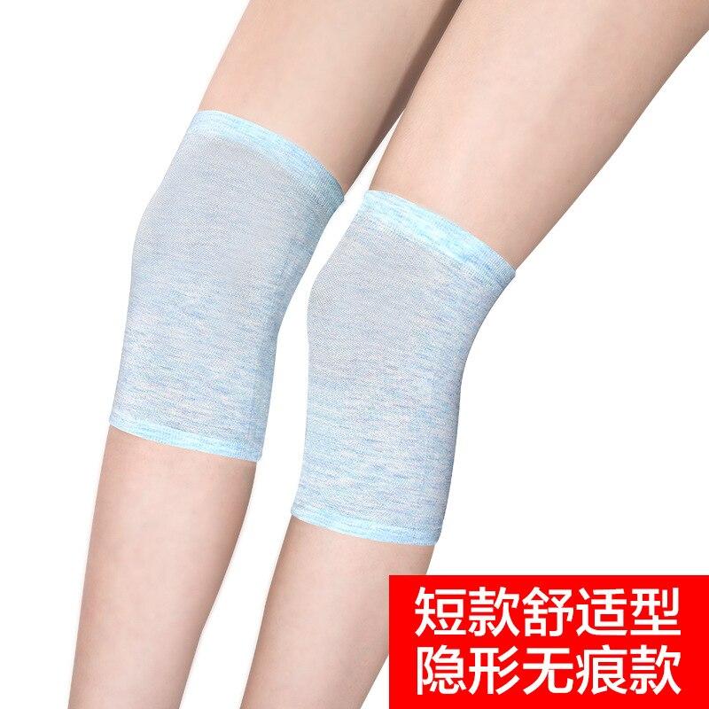 Summer Kneecap Thin Air-conditioned Room Old Cold Legs Knee Case Short Seemless Summer Old Man Hidden Legguard Men's Women's
