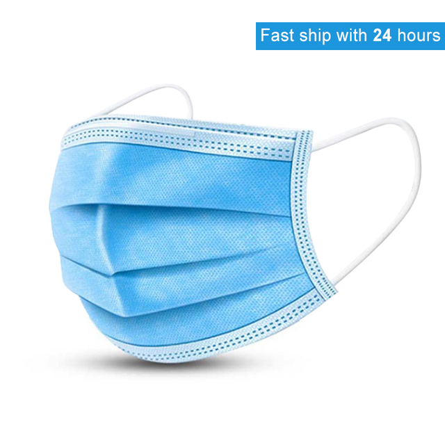 3 Layers Disposable Mouth Mask Anti Dust Mouth Mask Carbon Filter Windproof Mouth-muffle Bacteria Proof Flu Kind Face Masks FDA 1