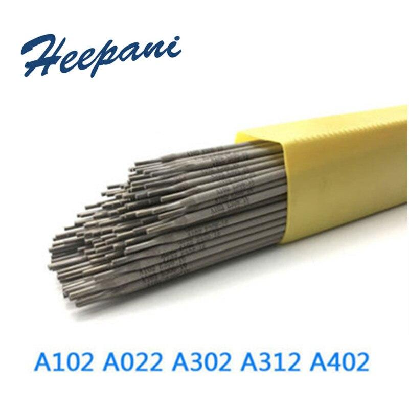 1KG/lot 2.5mm - 4mm 304 Stainless Steel Welding Rods E308 / A102 / E316 / A132 / A302 / A402 / A412 / E2209 Welding Electrod