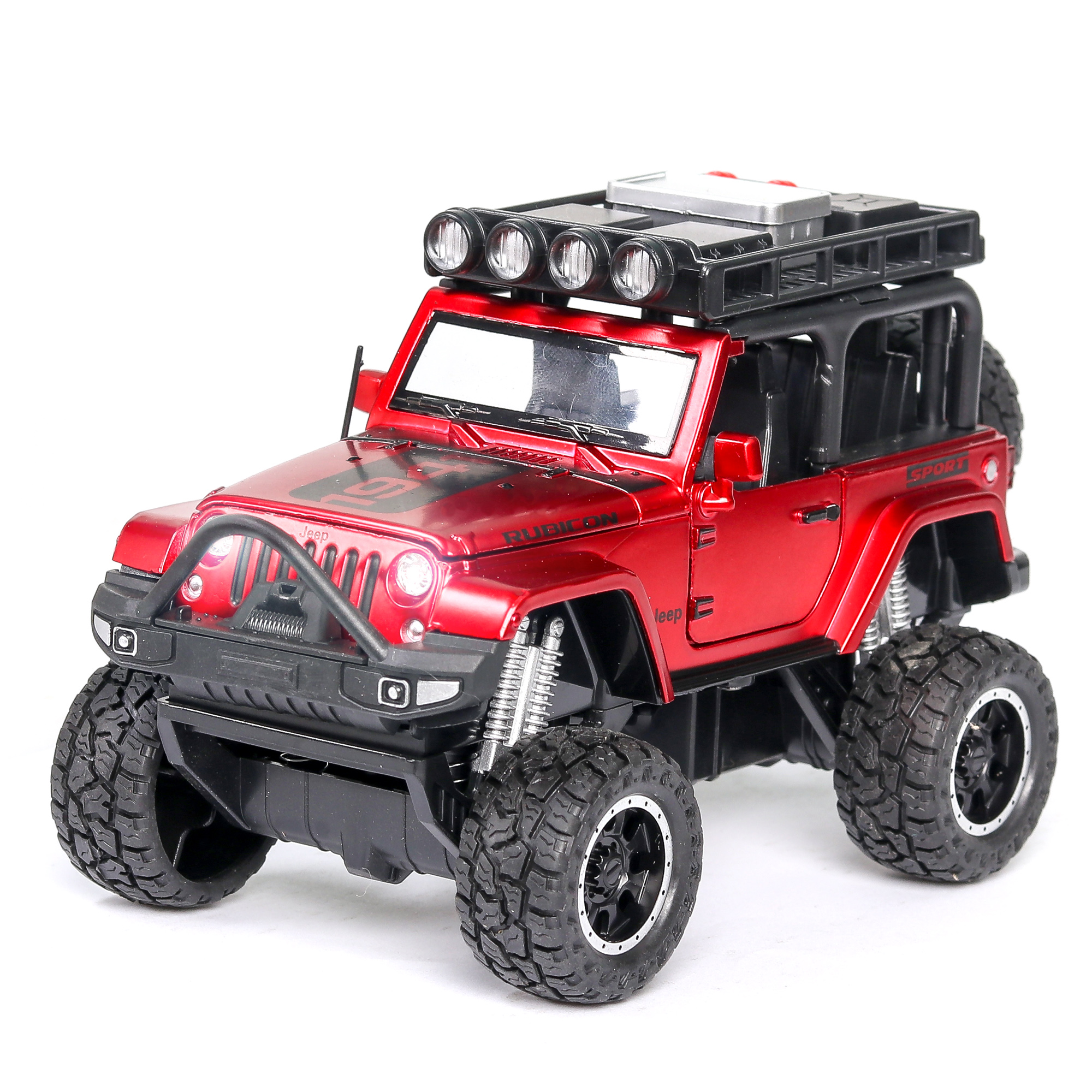 1:32 Hot High Simulation Jeeps Wrangler Big Wheel Diecasts Toy Vehicles With Sound And Light Car Model For Children Gifts Toys