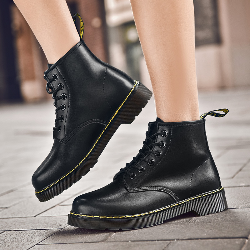 Martin boots couple boots new women's shoes autumn and winter men's shoes Joker simple British style boots couple casual shoes