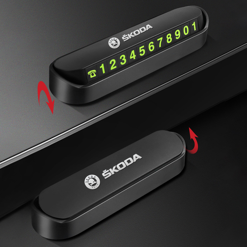 Автомобильный временный стоп-сигнал, парковочная карточка, табличка с номером телефона для Skoda Octavia A5 A7 RS Fabia, превосходные аксессуары