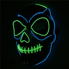 Halloween Mask Night Atmosphere Decorative Face Masks Men Women Wear LED Light-Emitting