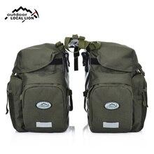 купить Bicycle Bag Mountain Road Saddle Cycling Bags MTB Rear Double Side Rack Tail Seat Pannier Pack Bike Accessories Rain Cover XA37D по цене 2467.67 рублей