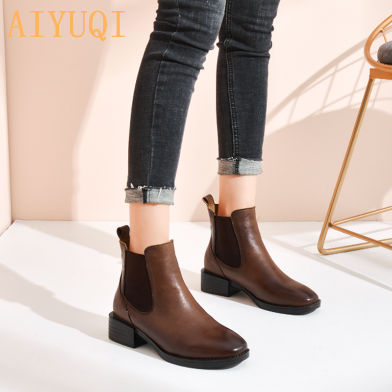 Womens 2019 Spring New Fashion Europe Style Retro Lace Up Platform Shoes Leather