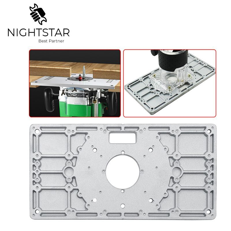 Multifunctional Aluminum Rounder Table Woodworking Bench Rouder Plate Table Insert Plate Trimmer Engraving Machine 22cm