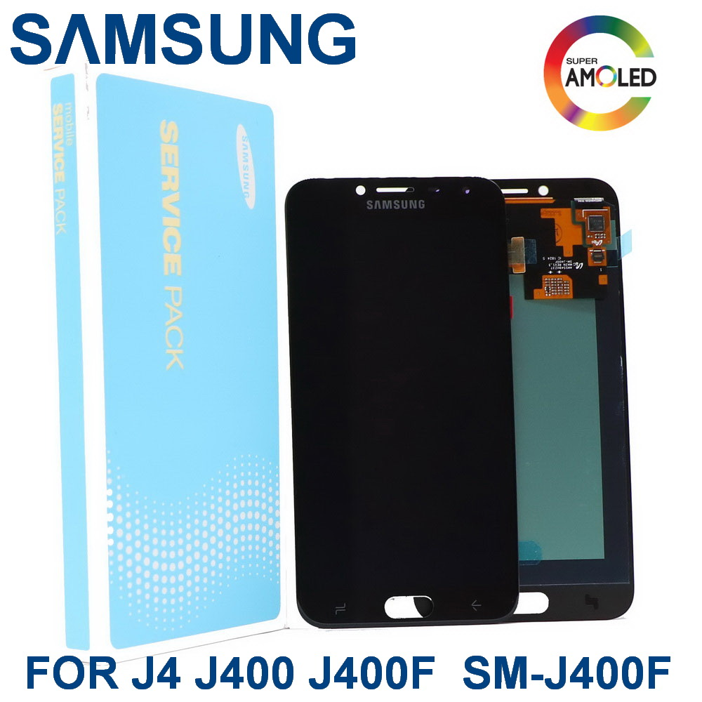 Original Super AMOLED For Samsung Galaxy J4 J400 J400F SM-J400F J400G/DS LCD Replacement Display Touch Screen Digitizer Assembly