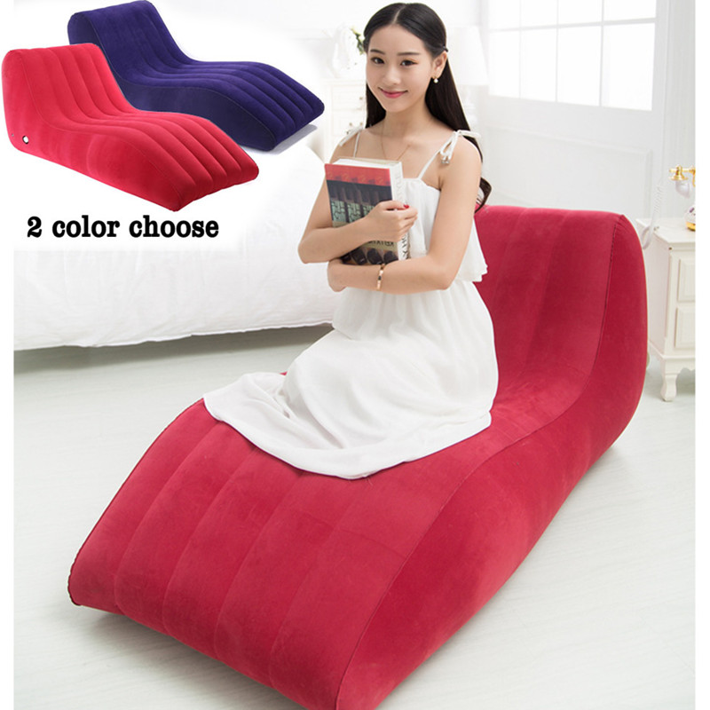 S-Shape Inflatable Sex Sofa Sex Furniture Sex Chair for Couples Adult Games Relax Sex Cushion Position Love Lounge Chair E5-3-10