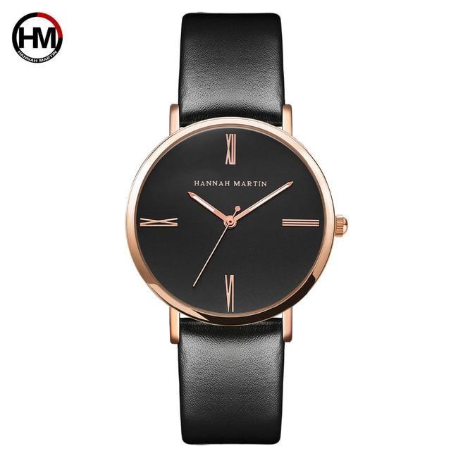 Japan imported movement Genuine Leather New simple design watch women fashion Luxury Brand quartz clock Ladies wrist watches