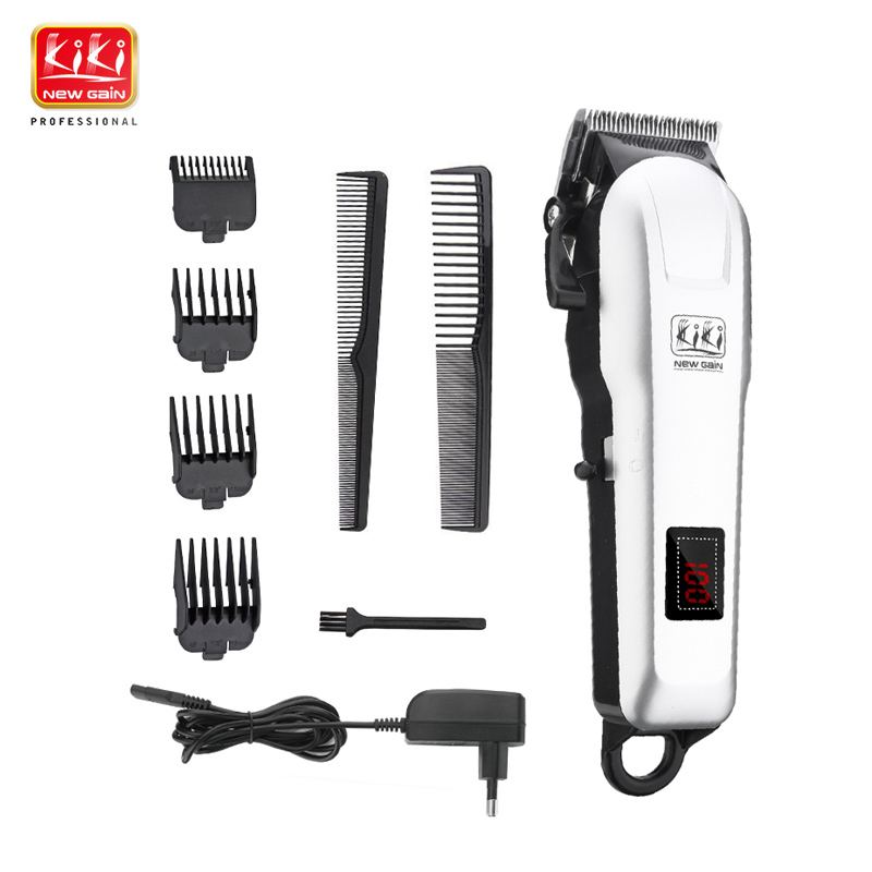 KIKI NEWGAIN  Rechargeable Hair Clippper Professional Hair Cutter Hair Trimmer  Lithium Battery NG-777 With Lcd Display