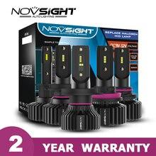 Novsight nowy H4 led Hi lo samochodu H7 zarowki led samochodowe H8 H11 9005 9006 50W 8000LM 6500K CSP żarówki ledowe 12v 24v bez wentylatora