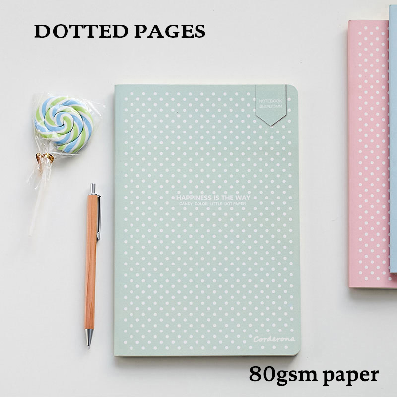 Dot Grid Bullet Journal Notebook Stationery Soft Cover Dotted Bujo Travel Planner Diary