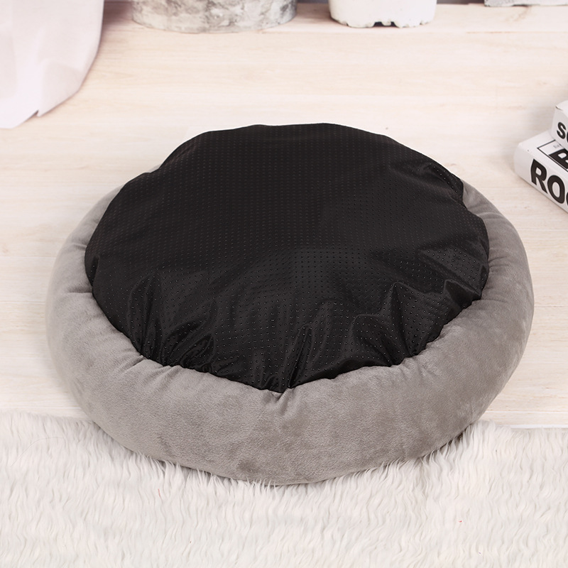 Dog Kennel Round Dog Bed for Small Medium Dog Pet Beds Waterproof Cat Sofa Fluffy Dogs House Small Pet Puppy Bed Round Beds 4